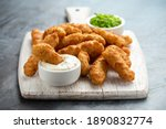 Battered haddock fish  mini...