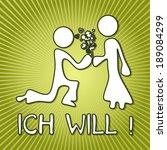 fresh green proposal german ich ... | Shutterstock . vector #189084299