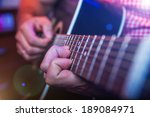rockstar playing live solo on... | Shutterstock . vector #189084971