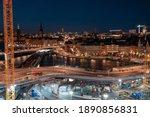 evening street in stockholm ...   Shutterstock . vector #1890856831
