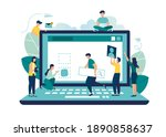 a team of people is developing... | Shutterstock .eps vector #1890858637