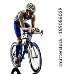 Man Triathlon Iron Man Athlete...