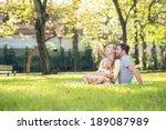 happy family spending time...   Shutterstock . vector #189087989