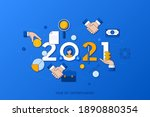 infographic concept  2021  ...   Shutterstock .eps vector #1890880354