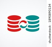 server databases icon with sync ...   Shutterstock .eps vector #1890890134