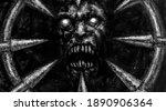 Scary Demon Face Illustration...