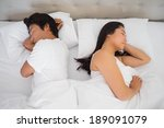 couple sleeping in bed at home... | Shutterstock . vector #189091079