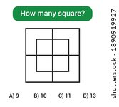 how many squares  mathematics... | Shutterstock .eps vector #1890919927