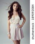 fashion woman with beautiful... | Shutterstock . vector #189092084