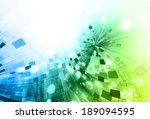 hi tech mosaic composition... | Shutterstock . vector #189094595