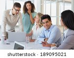 casual business team having a... | Shutterstock . vector #189095021
