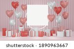 3d rendering concept of a blank ... | Shutterstock . vector #1890963667