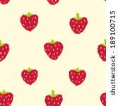 hand drawn strawberry seamless... | Shutterstock .eps vector #189100715