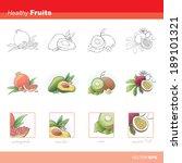 healthy fruits | Shutterstock .eps vector #189101321