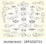 set of calligraphic decorative... | Shutterstock .eps vector #1891020721