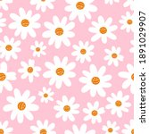 seamless pattern with cute hand ...   Shutterstock .eps vector #1891029907