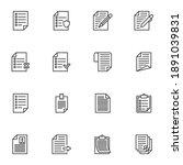 paper document line icons set ... | Shutterstock .eps vector #1891039831
