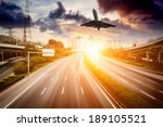 highway and viaduct under the... | Shutterstock . vector #189105521
