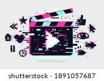 cinema background. vector... | Shutterstock .eps vector #1891057687