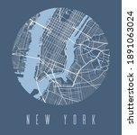 new york map poster. decorative ...   Shutterstock .eps vector #1891063024