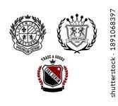 design vector emblem collection ... | Shutterstock .eps vector #1891068397