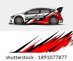 racing car wrap design vector... | Shutterstock .eps vector #1891077877