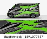 racing car wrap design vector... | Shutterstock .eps vector #1891077937