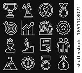success and victory icons set... | Shutterstock .eps vector #1891108021