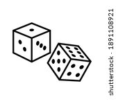 rolling dice game icon vector   Shutterstock .eps vector #1891108921