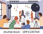 photo studio. photographers... | Shutterstock .eps vector #1891130764
