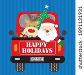 Christmas Truck Santa And...