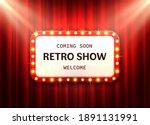 retro frame red curtain. cinema ...   Shutterstock .eps vector #1891131991