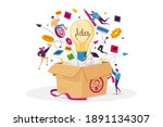 think outside concept. tiny...   Shutterstock .eps vector #1891134307