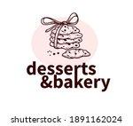 desserts and bakery logo design ... | Shutterstock .eps vector #1891162024