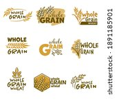bakery emblems or labels with... | Shutterstock .eps vector #1891185901
