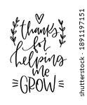 teacher thank you card vector... | Shutterstock .eps vector #1891197151