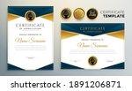 golden certificate award... | Shutterstock .eps vector #1891206871