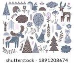 scandinavian forest. fashion... | Shutterstock .eps vector #1891208674