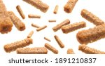 bread croutons levitate on a...   Shutterstock . vector #1891210837