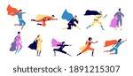 superhero characters. active... | Shutterstock .eps vector #1891215307