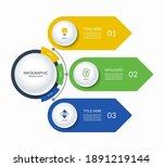 infographic semi circle... | Shutterstock .eps vector #1891219144