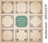 vintage decorative frames   set ... | Shutterstock .eps vector #189122279