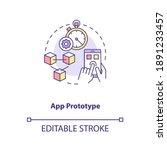 app prototype concept icon. ui...