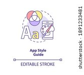 app style guide concept icon....