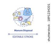 manure disposal concept icon.... | Shutterstock .eps vector #1891234201