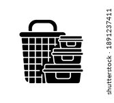 storage containers black glyph... | Shutterstock .eps vector #1891237411