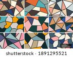 collection of seamless colorful ... | Shutterstock .eps vector #1891295521