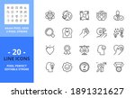 line icons about core values.... | Shutterstock .eps vector #1891321627