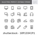 computer devices simple line...   Shutterstock .eps vector #1891334191