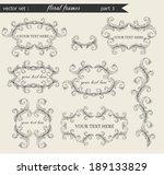 vector set of floral frames... | Shutterstock .eps vector #189133829